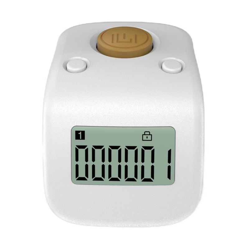 Arvakr Rechargeable Silent Finger Counter 6 Channels Digital Tasbih Tally Clicker with LED for Prayer Knitting Sports Gift