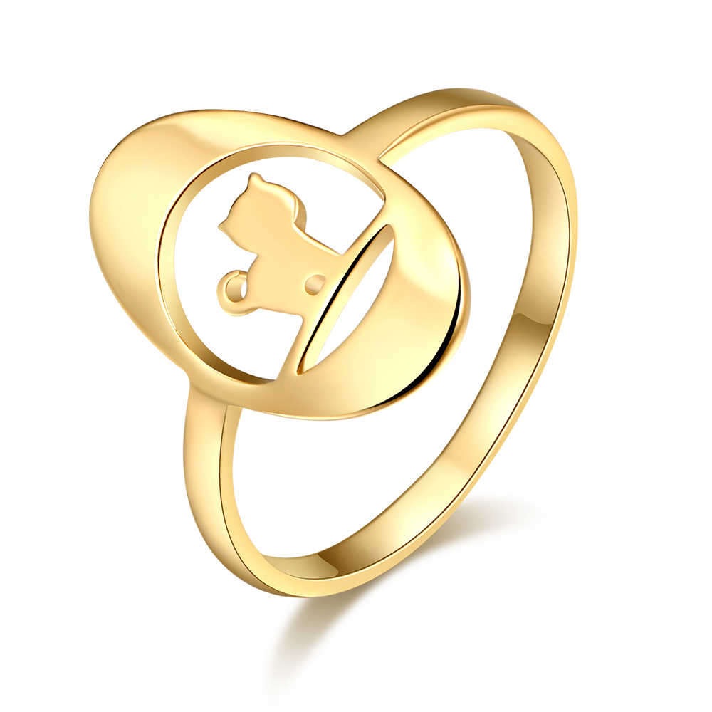 CACANA แหวนสแตนเลสสำหรับแฟชั่นผู้หญิงแมวสัตว์แหวนอุปกรณ์เสริม Anillos Mujer Bague Femme เครื่องประดับของขวัญ W19