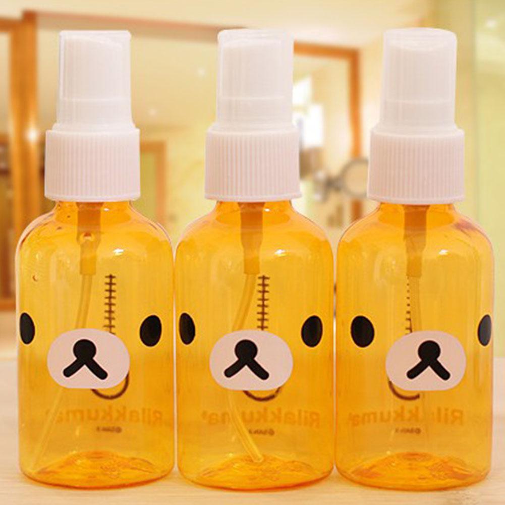 Kuulee 30ml/100ml Empty Spray Bottles Cartoon Mini Portable Refillable Bottle Cosmetic Hand Sanitizer Alcohol Dispenser