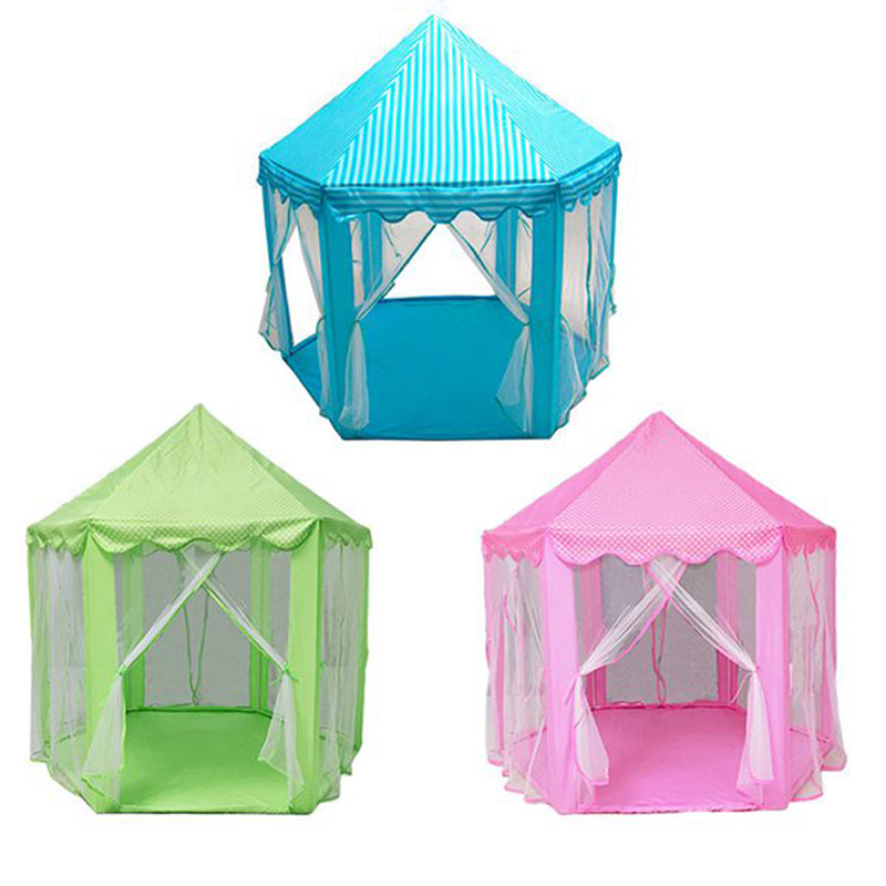 Play Fairy House Indoor And Outdoor Kids Play Tent Hexagon Princess Castle Playhouse For Girls Funny Game Tent For Kids Children