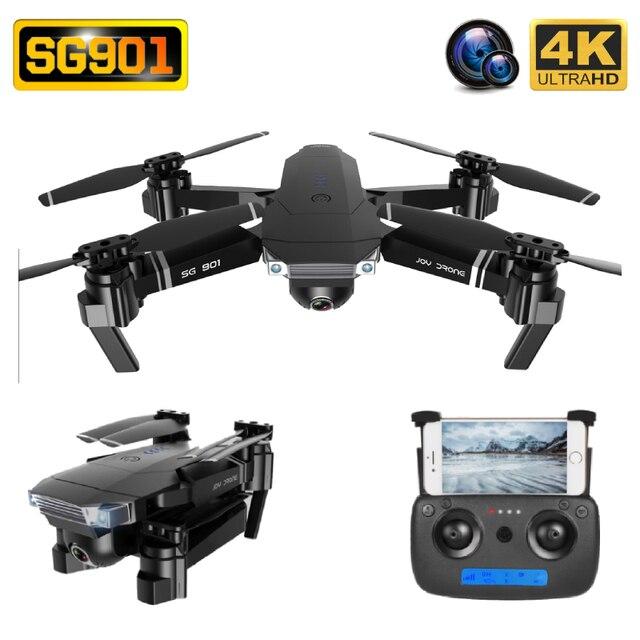 "SG901 Drone 4K HD ESC 50X זום מצלמה כפולה אופטי זרימת WIFI FPV מתקפל Selfie ""טים מקצועי בצע לי RC Quadcopter"
