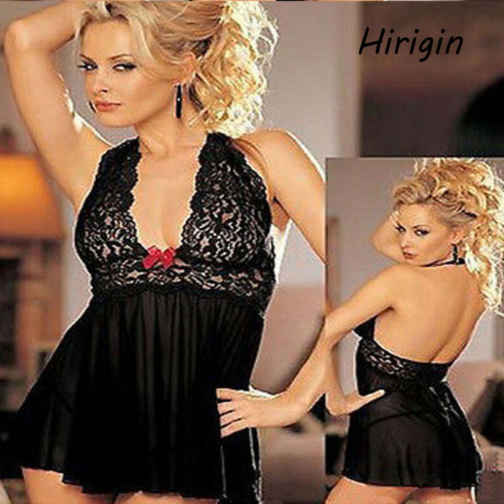 sexy Babydoll <font><b>dress</b></font> for couples erotic lingerie black lace see through sleepskirt intimate clothes <font><b>adult</b></font> flirting games <font><b>sex</b></font> shop image