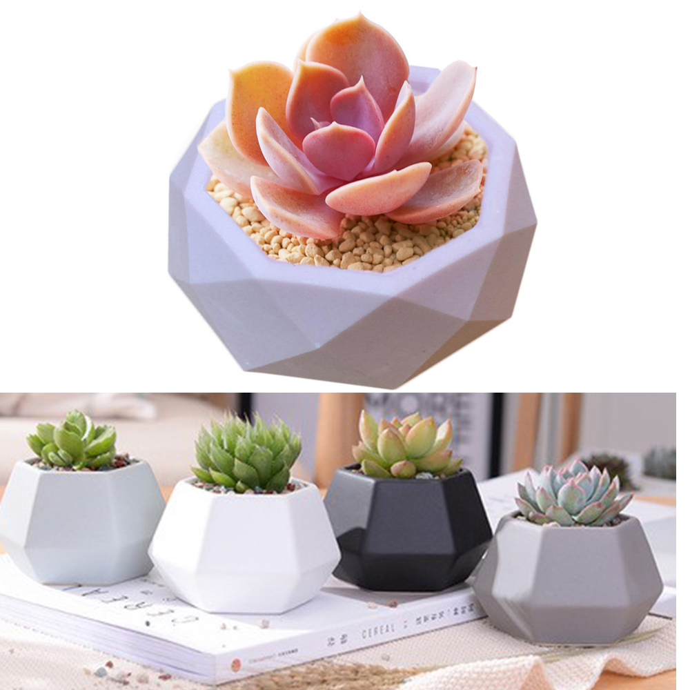3D Silicone Molds for Epoxy Resin Succulent Flower Pot Concrete Cement Clay Mold Silicone Resin Mold Candle Soap Making Mould