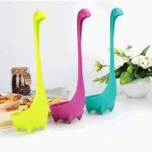 Multifunction Long Handle Spoon Food Grade Creative Soup Spoon Loch Ness Monster Modelling Tableware Kitchen Accessories the loch mess monster