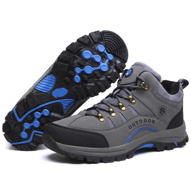 Men Hiking Shoes Lace Up Men Sport Shoes Outdoor Jogging Trekking Sneakers