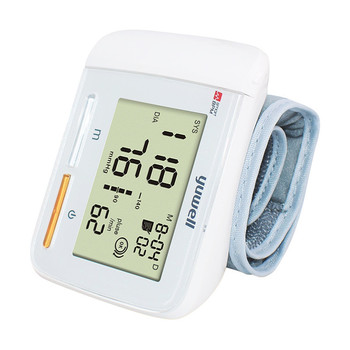 Yuwell 8900A Wrist Blood Pressure Monitor Portable Large Digital LCD Medical Equipment Measurement CE Household Health Care Tool