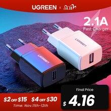 Ugreen 5 فولت 2.1A USB شاحن آيفون X 8 7 باد سريع الجدار شاحن الاتحاد الأوروبي محول لسامسونج S9 شاومي Mi 8 شاحن الهاتف المحمول