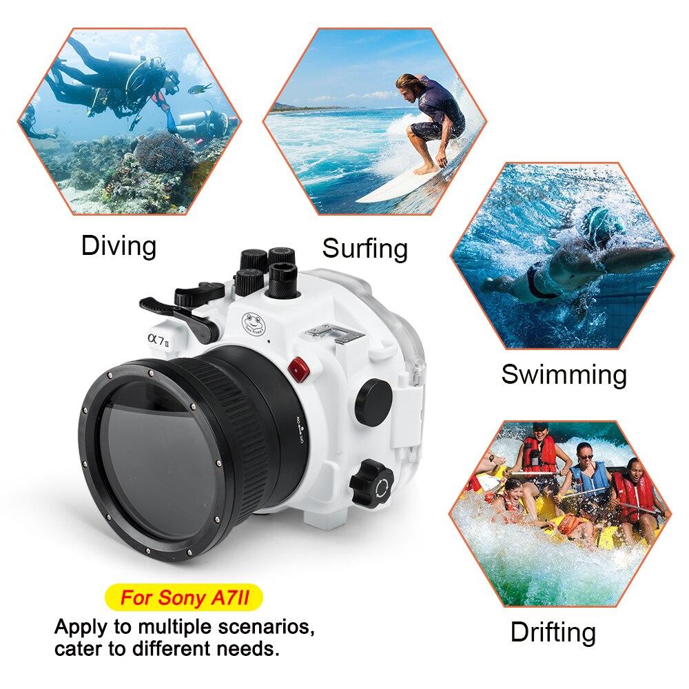 For Sony A9 / A7 III A7R3 A7RIII A7III A7M3 / A7 II A7II A7M2 A7SII A7RII / A7 A7R A7S Underwater camera housing Diving Case 3