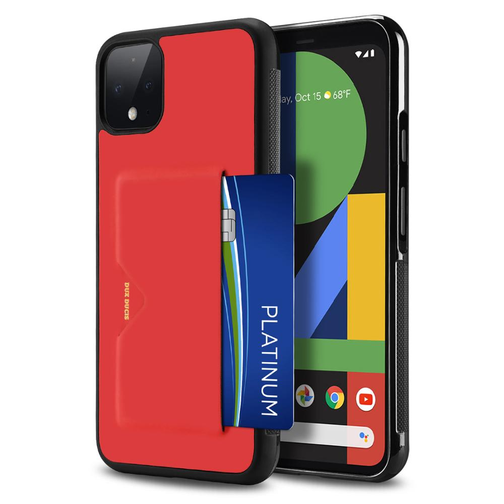 For Google Pixel 4 XL 4XL Phone Case Ultra Light Soft Edge Fashion PU Leather For Pixel 4 Back Cover Card Full Package Anti Fall