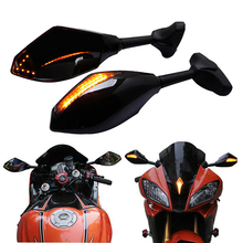 MOTORCYCLE LED TURN SIGNAL LIGHTS REARVIEW SIDE MIRRORS FOR Suzuki SV1000S 650S for Kawasaki ZX6R Ninja 500 EX650R rearview mirrors turn signal lights for kawasaki ninja zx10r 2011 2015 2014 2013 motorcycle