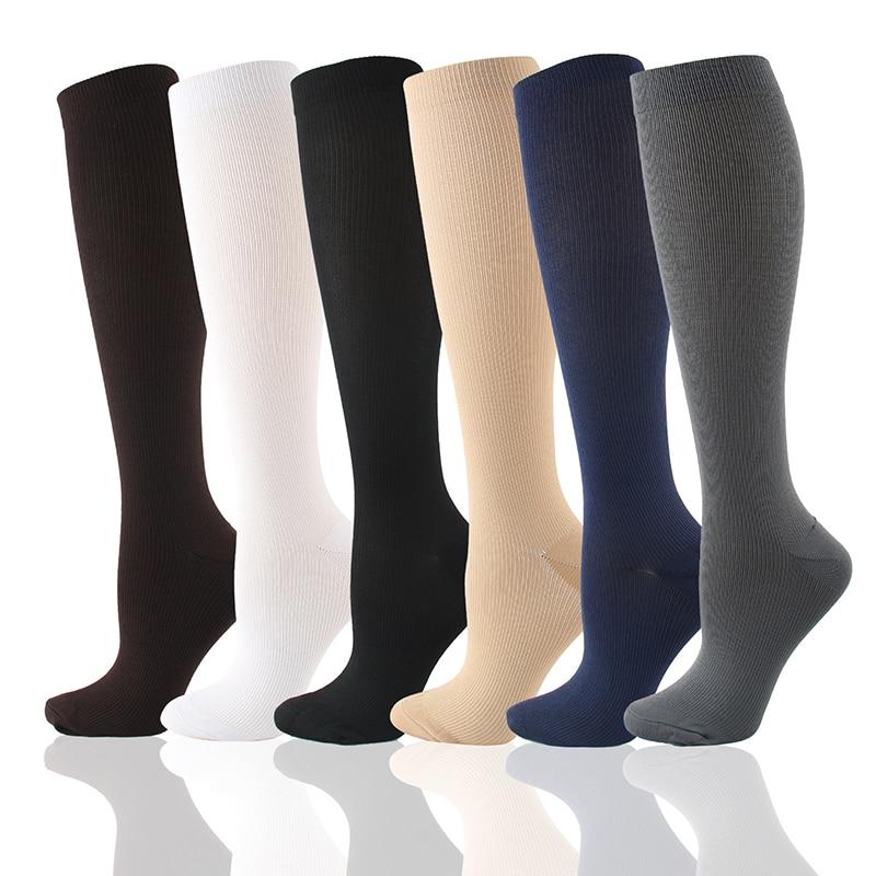 6 пар/лот Компрессионные носки Для мужчин и Для женщин Для мужчин ноги облегчения боли предотвращает варикозное расширение вен, отеки ног па...
