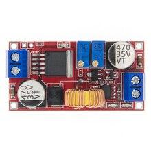 50 pçs 5a dc para dc cc cc cv bateria de lítio step down placa carregamento led conversor de energia carregador step down módulo xl4015