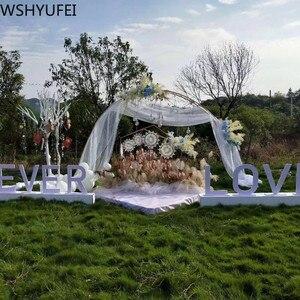 Image 5 - จัดงานแต่งงาน PARTY ฉากหลังเหล็ก Arch ขาตั้ง props คู่แหวนเหล็ก Arch กรอบตกแต่งดอกไม้ Arch ตกแต่งประตู