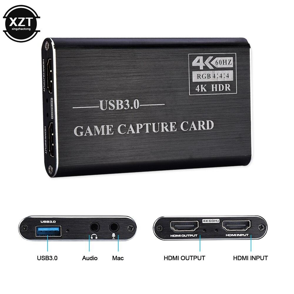 Адаптер для захвата видео/игр 4K USB 3,0 hdmi 1080P 60fps HD рекордер конвертер для XBOX PS4 OBS игр прямой трансляции 4K HDR Новинка