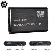 4K USB 3.0 hdmi-совместимая карта захвата видео/игр ключ 1080P 60fps рекордер конвертер для XBOX PS4 OBS игры прямая трансляция HDR