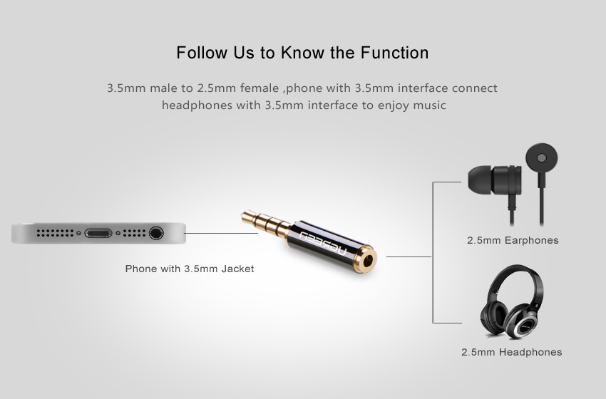 H35c3470780a04e89822fa2e6715143b3k Ugreen Jack 3.5 mm to 2.5 mm Audio Adapter 2.5mm Male to 3.5mm Female Plug Connector for Aux Speaker Cable Headphone Jack 3.5