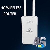 300mbps 3G 4G Wifi Router Sim Card sbloccato CAT4 LTE Modem Wireless doppie antenne esterne Gateway Router esterni per telecamera IP