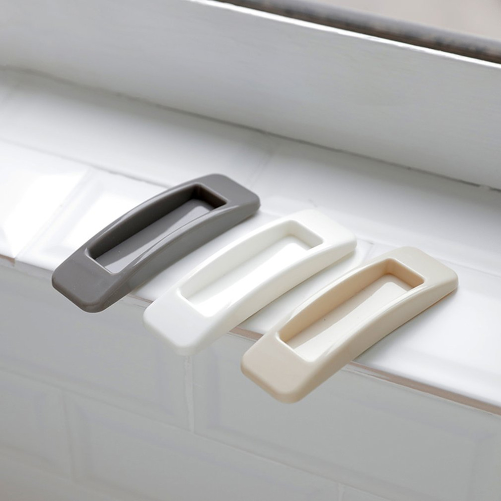 2 PCS Rectangular Adhesive Auxiliary Window Handle Multi-Purpose Glass Pulls Wardrobe Handle Drawer Handle Furniture Accessories