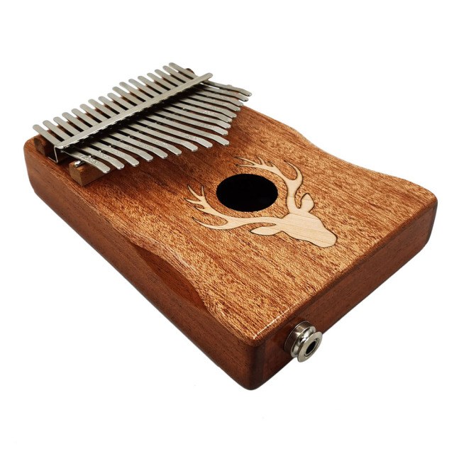 17 Keys Electric Kalimba Thumb Piano Set Portable Keyboard Music Instrument Maple EQ type
