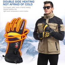 Heating Gloves Rechargeable Adult Winter Outdoor Sports Camping Keep Warm Four Fingers Flexible Use Unisex Double Sided Gloves