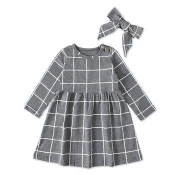 Dziewczyny chusta śliczna księżniczka sukienka + pałąk zimowe ubrania maluch dzieci dzieci dziewczyny swobodne sukienki od 18 miesięcy do 6 lat tanie i dobre opinie ARLONEET COTTON Poliester CN (pochodzenie) Powyżej kolana Mini O-neck REGULAR Pełna Na co dzień Pasuje prawda na wymiar weź swój normalny rozmiar