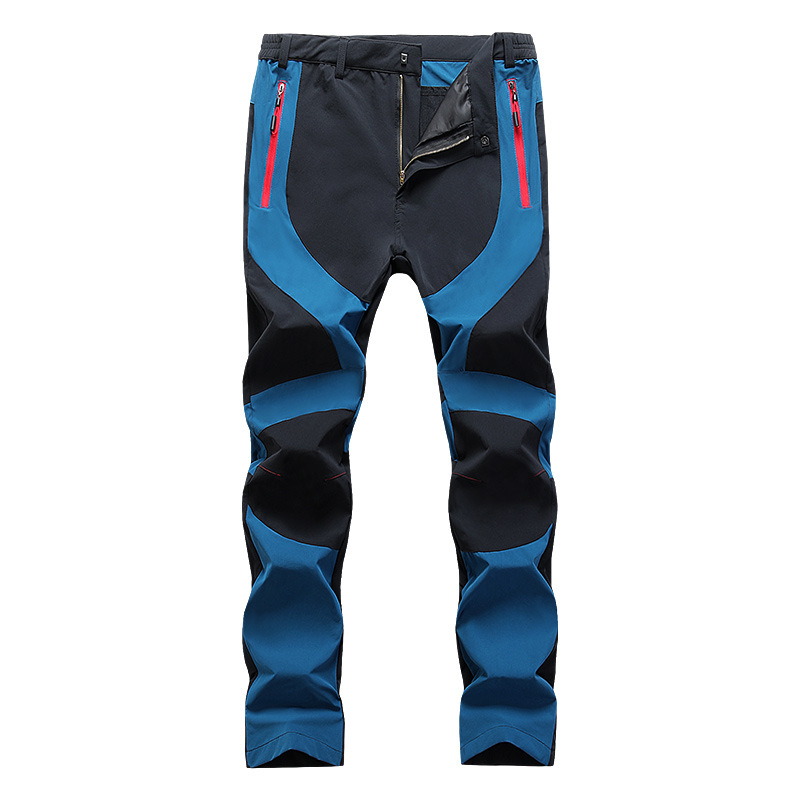 Men Cargo Pants Casual Large Size Waterproof Sports Pants Outdoor Regular Male Hiking Trousers Patchwork