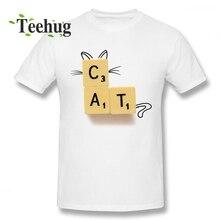 Man's 3D Print Cat Scrabble T-shirt For Man Geek Streetwear For Male Graphic T Shirt scrabble trainer