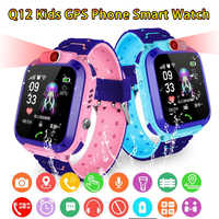 Q12 Smart Uhr LBS Kind SmartWatches Baby Uhr 1,44 Zoll Voice-Chat GPS Finder Locator Tracker Anti Verloren Monitor mit box