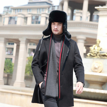Handmade Men Winter Real Rabbit Fur Bomber Hat Outdoor Super