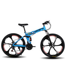 Bicicleta de montanha dobrável mtb da bicicleta do sexo masculino feminino estudante mountain bike ciclismo estrada dobrável 24 26 polegada 21/24/27 velocidade