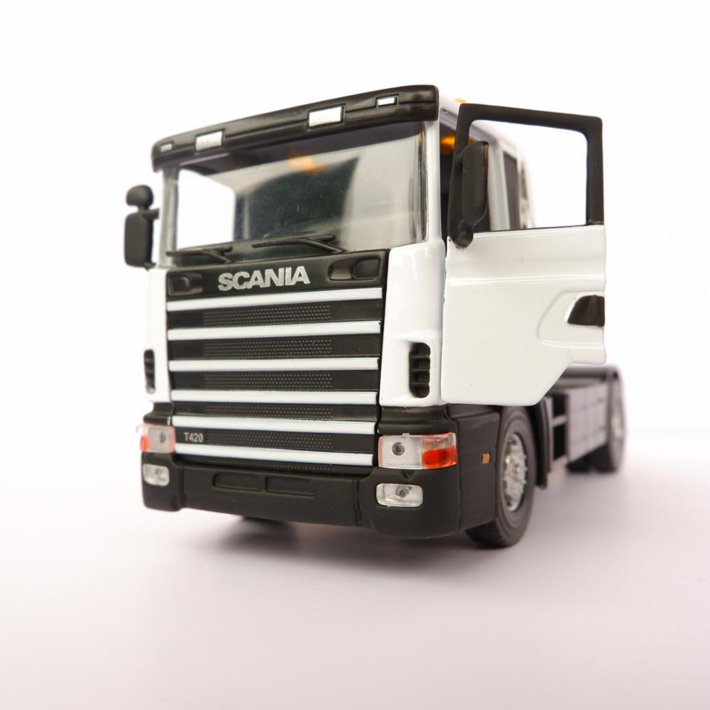 1/43 Alloy Scania Truck Toy Car Model Metal Die Cast Vehicle Model 14cm In Length Vintage Car Collection Decoration Boy Gift Toy