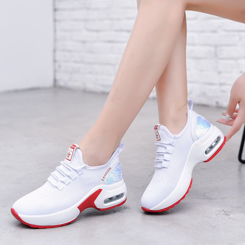 Women's Running Shoes Mesh Comfortable Breathable Sneakers Outdoor Sport Shoes Woman 2020 Summer New Female Shoes White Black