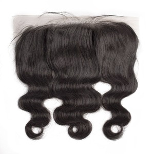 Image 4 - human hair bundles with frontal body wave short natural brazillian hair extension weave preplucked 3 bundles for black women