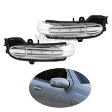 Diodo emissor de luz espelho retrovisor transformar a luz do sinal para mercedes-benz w203 4 porta 2004-2007 porta asa lateral espelho lâmpada indicador de luz lateral