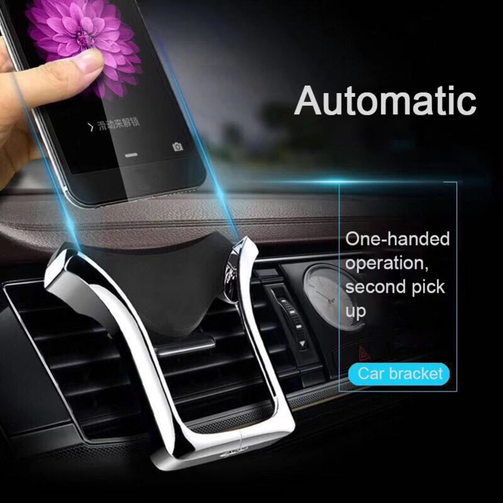 U-type Gravity Car Phone Holder GPS Stand Automatic Load-bearing Induction Navigation Bracket Air Vent Mount Car Holder