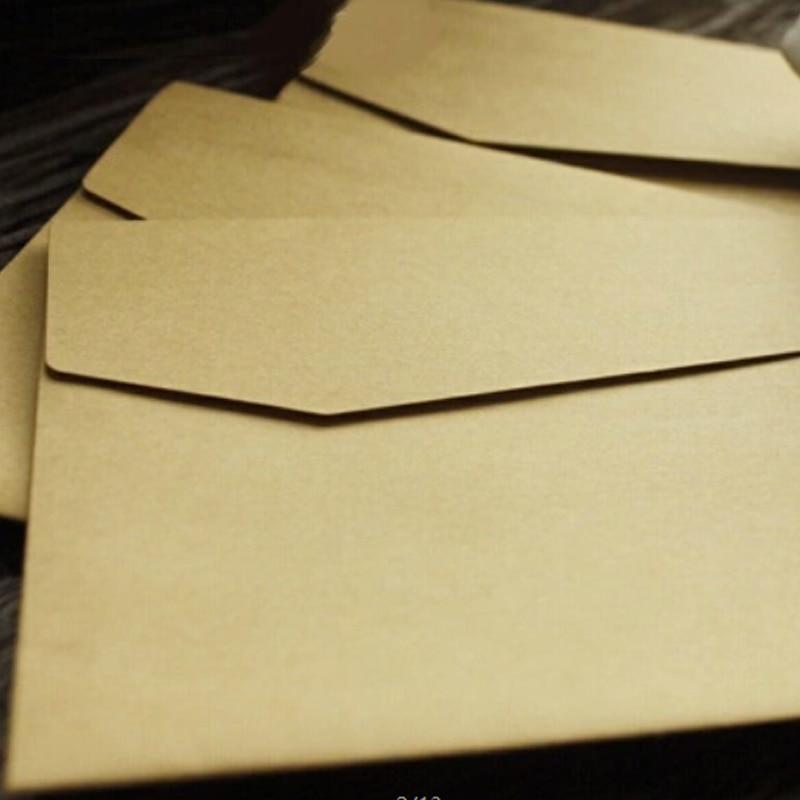 100Pcs/Lot Vintage Kraft Paper Envelopes Europen Style Envelope Message Card Letter Stationary Storage Paper Gift 170x120Mm