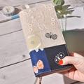 Японский цветочный тканевый Модный мягкий чехол для дневника для стандартного планировшик на неделю 98 мм * 190 мм Бесплатная доставка