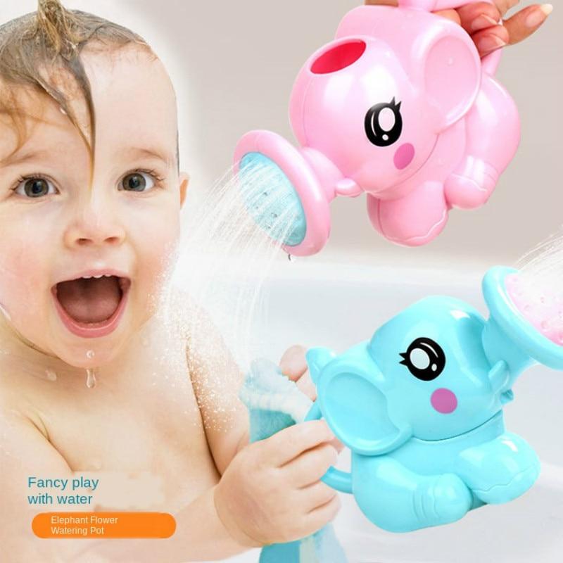 Baby Bath Cartoon Elephant Washing Head Waterfall Rinser Kids Shampoo Cup Bath Shower Washing Hair Cup Newborn Baby Acessories