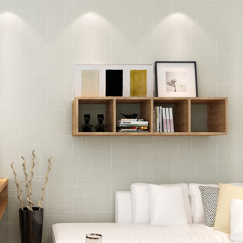 Fresh Simple Bedroom Living Room Wall Wallpaper Warm Beige Hotel Beauty Salon Nail Shop Clothing Store Wallpaper