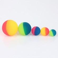 Bola de brinquedo bouncy ball 3 pçs/set, brinquedo infantil de borracha elástica, bola colorida, brinquedos para atividades ao ar livre