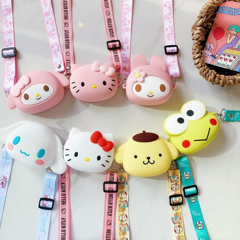 Hot On Sale Kawaii New Coin Purse Fresh Mini Change Money Bag Creative Cartoon Key Case Ladies Key Wallets Silicone Wrist Bag