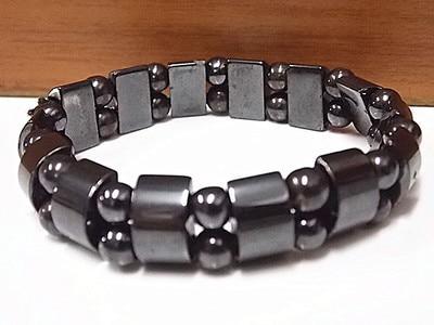 JWMUMA Weight Loss Round Black Stone Magnetic Bracelet Therapy women's Bracelets Men Stretch Bracelet Gifts for Men 3