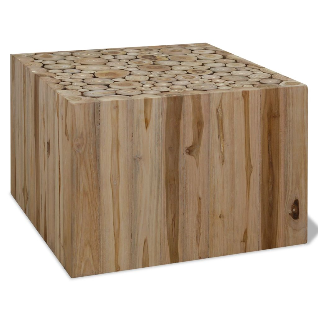 VidaXL Coffee Table Genuine Teak 50x50x35 Cm