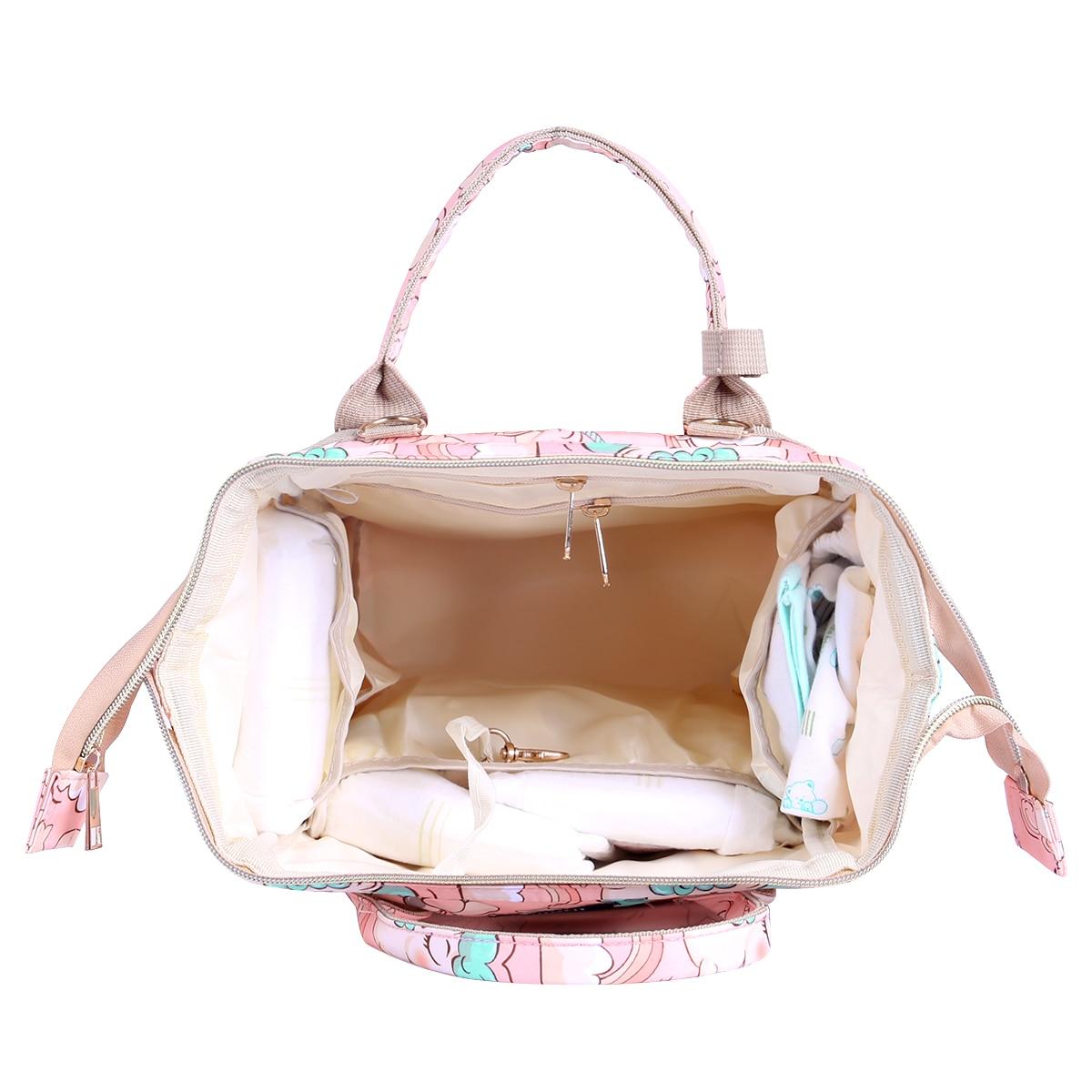 H35c4e497fdcf423da71f649baf739957p Diaper Bag Backpack For Moms Waterproof Large Capacity Stroller Diaper Organizer Unicorn Maternity Bags Nappy Changing Baby Bag