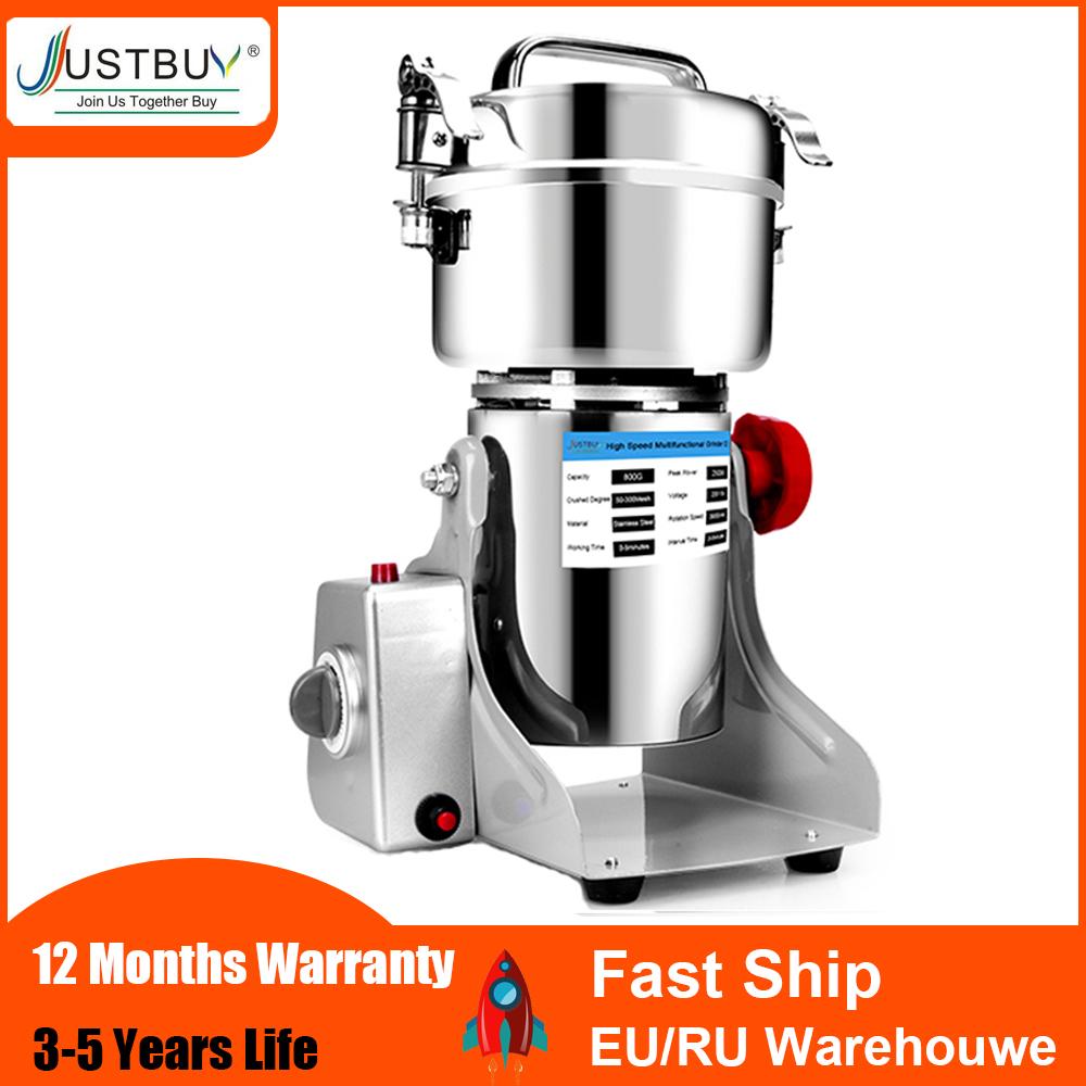 36 Months Warranty 800G Herb grinder coffee grinder machine Grain spices mill medicine wheat flour mixer dry food grinder
