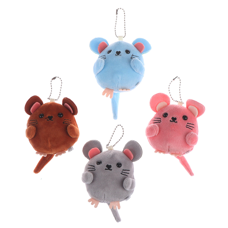 Rat Year New Year Gift Soft Toys Baby Hand Bell Bag Charm Stuffed Fluffy Mouse Stroller Toy Child Room Decor