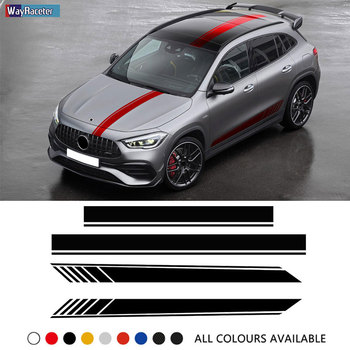 Edition 1 Car Door Side Stripes Stickers Hood Rear Body Kit Decal For Mercedes Benz GLA Class GLA45 AMG X156 GLA200 H247 GLA250 image