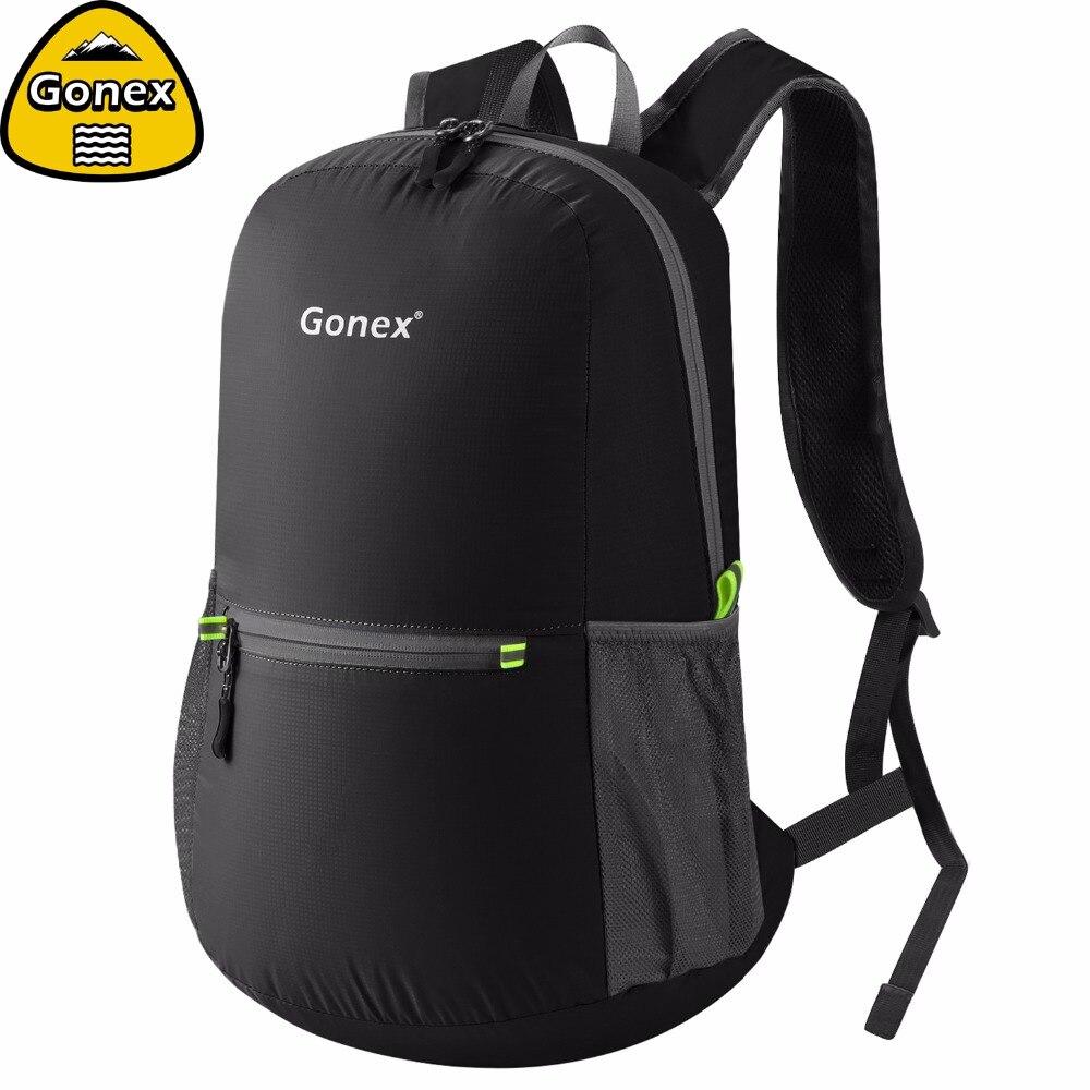 Gonex 20L Ultralight Backpack Foldable Daypack Nylon Black Bag For School Travel Hiking Outdoor Sport 2019 Family Activity