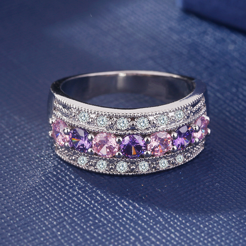 Blue Topaz Sterling Silver Ring natural gemstone éternité Taille 5-11