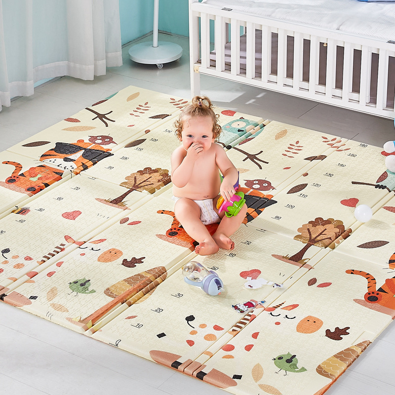 Foldable Baby Crawling Mat XPe Foam Baby Climbing Pad Living Room Household Thickening Children Outdoor Game Mat